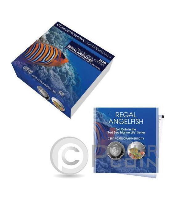 REGAL ANGELFISH Red Sea Marine Life 1 Oz Silver Coin 5$ Palau 2016