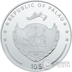 HAND OF FATIMA Hamsa Amulet Talisman Khamsa Swarovski 2 Oz Серебро Монета 10$ Палау 2016