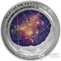 URSA MAJOR CONSTELLATION Northern Sky Curved Domed Silver Coin 5$ Australia 2016