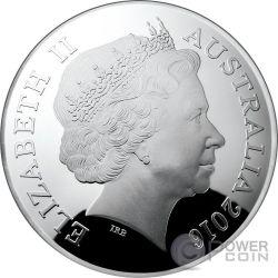 URSA MAJOR CONSTELLATION Northern Sky Curved Domed Moneda Plata 5$ Australia 2016