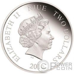 OLAF Disney Frozen Magic of the Northern Lights 1 Oz Серебро Монета 2$ Ниуэ 2016