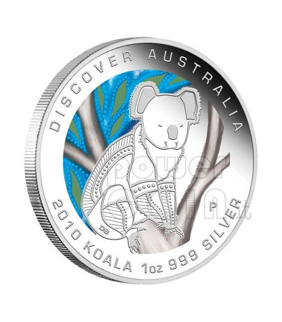 DISCOVER AUSTRALIA Dreaming Moneda Set 5 Plata coins 1$ 2010