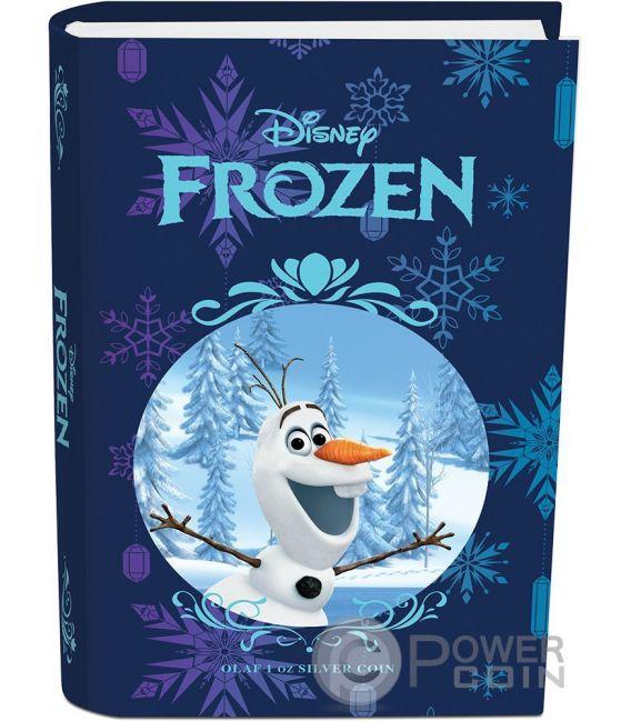 OLAF Disney Frozen Magic of the Northern Lights 1 Oz Silber Münze 2$ Niue 2016