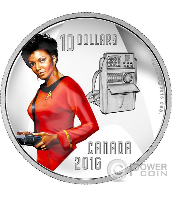 UHURA Communications Officer Star Trek Moneda Plata 10$ Canada 2016