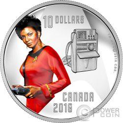 UHURA Communications Officer Star Trek Silber Münze 10$ Canada 2016