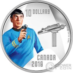 SPOCK Star Trek Moneta Argento 10$ Canada 2016