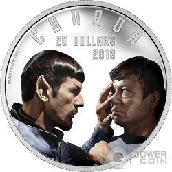 MIRROR MIRROR Star Trek Moneda Plata 20$ Canada 2016