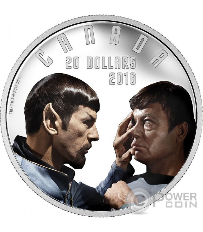 Mirror Mirror Star Trek Silber Münze 20 Canada 2016 Power Coin