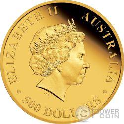 AUSTRALIAN STOCK HORSE Cavallo Australiano 5 Oz Moneta Oro 500 Dollari Australia 2016