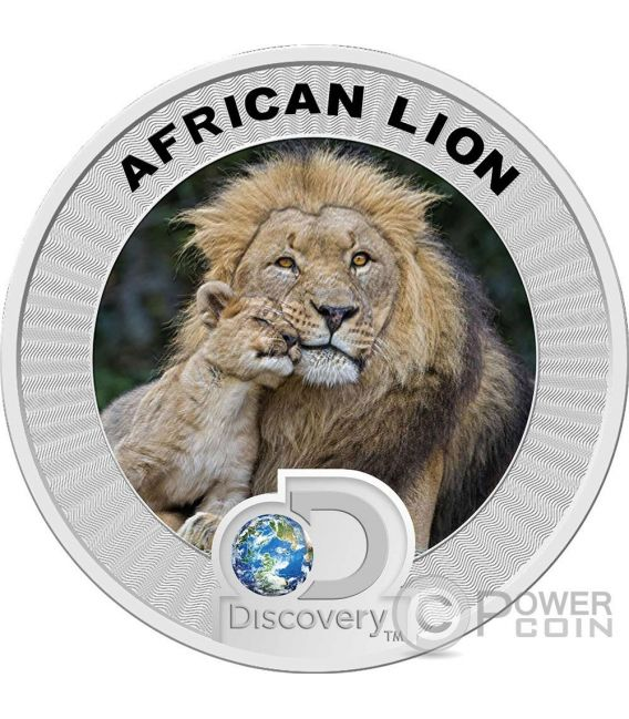 AFRICAN LION MADRILL Discovery Endangered Species Set 2 Plata Monedas 2 Dollars Niue 2016