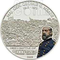 MEADE GEORGE Great Battles Commanders Silber Münze 5$ Cook Islands 2009