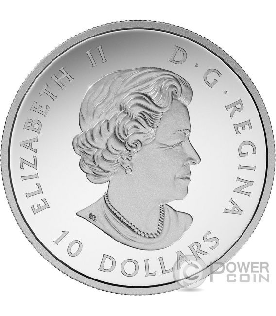 KAYAKING ON THE RIVER Celebrating 150th Anniversary Moneda Plata 10$ Canada 2017