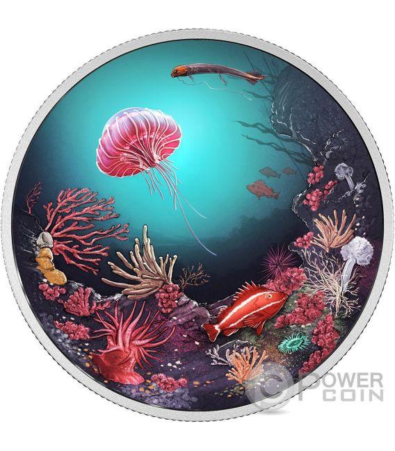 ILLUMINATED UNDERWATER REEF Backlit Серебро Монета 30$ Канада 2016