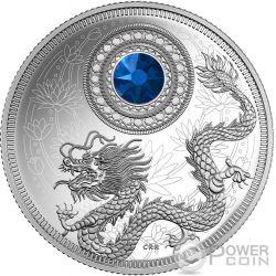 BIRTHSTONES SEPTEMBER Gemstone Swarovski Silver Coin 5$ Canada 2016