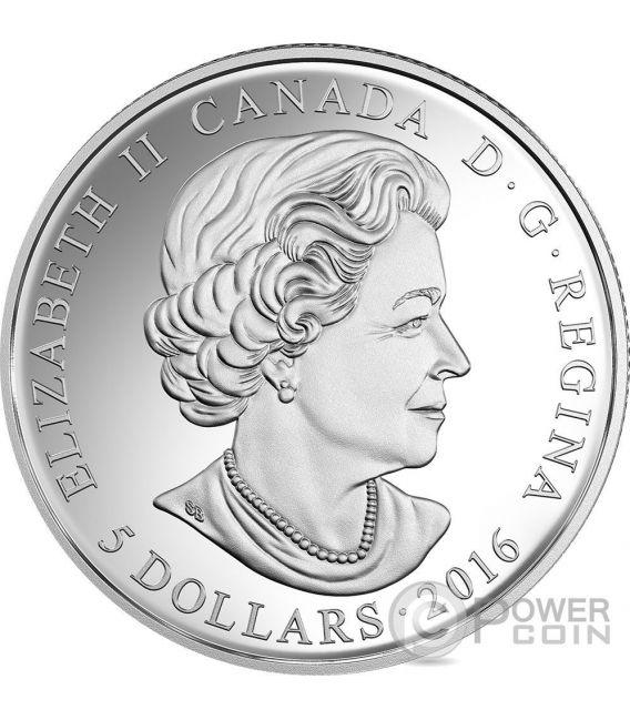 BIRTHSTONES SEPTEMBER Gemstone Swarovski Moneda Plata 5$ Canada 2016