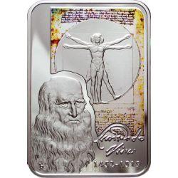 LEONARDO DA VINCI Mona Lisa Серебро Монета 10D Андора 2008