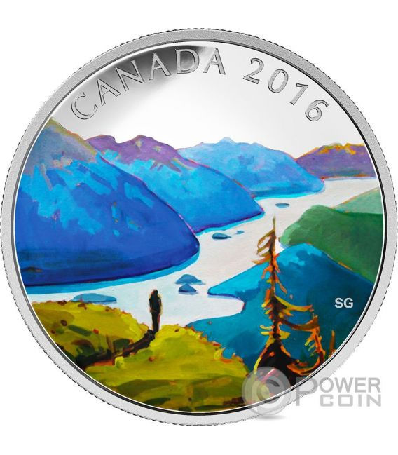 REACHING THE TOP Canadian Landscape Moneta Argento 20$ Canada 2016