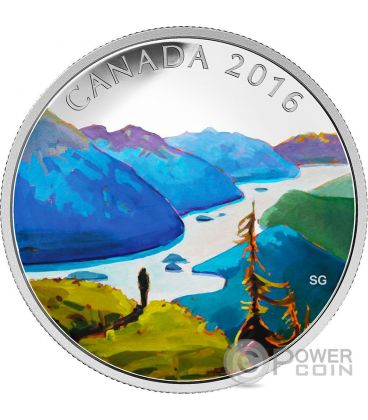 REACHING THE TOP Canadian Landscape Silver Coin 20$ Canada 2016