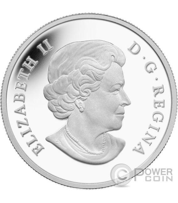 CARIBOU Baby Animals Moneda Plata 20$ Canada 2016