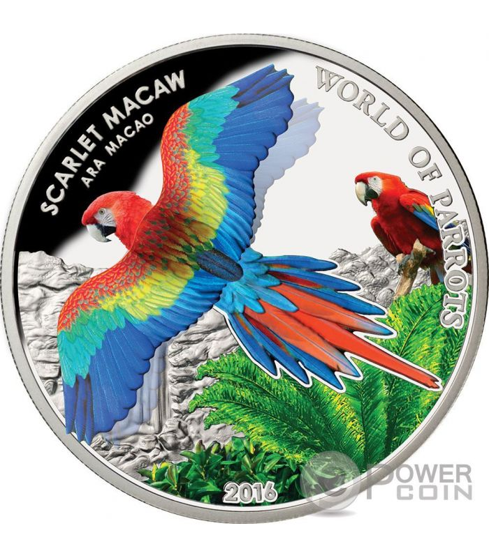 2017 World of Parrots Pink and Grey Galah Silver Proof Coin with 3D Minting