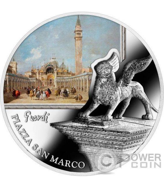 PIAZZA SAN MARCO St Mark Square SOS Venice 1 Oz Moneda Plata 2$ Niue 2016