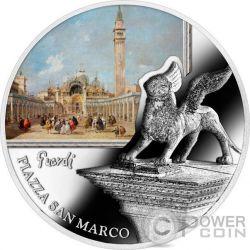 PIAZZA SAN MARCO St Mark Square SOS Venice 1 Oz Silver Coin 2$ Niue 2016