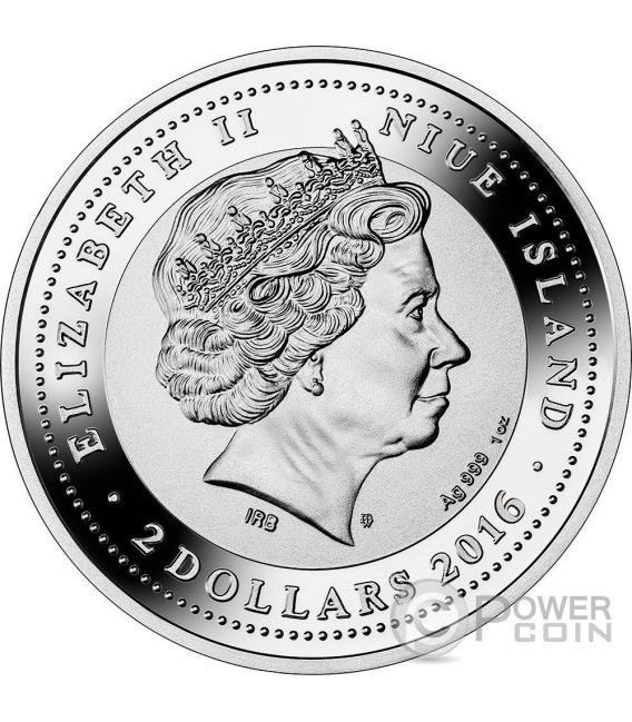 PIAZZA SAN MARCO St Mark Square SOS Venice 1 Oz Серебро Монета 2$ Ниуэ 2016