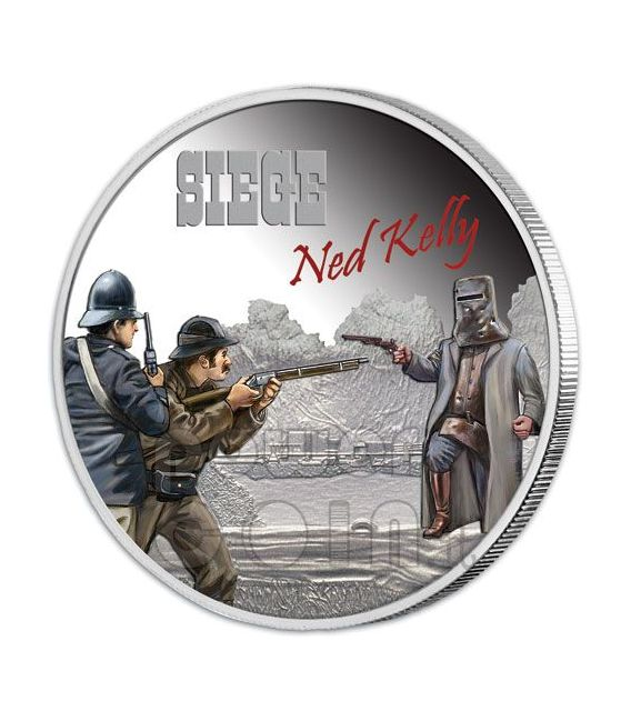 NED KELLY Bandit Outlaw Collection 4 Silver Coin Set 1$ Tuvalu 2010