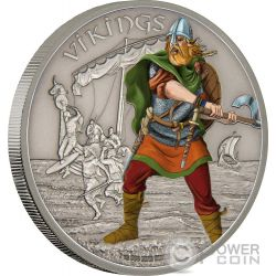 VIKINGS Warriors of History 1 Oz Silver Coin 2$ Niue 2016