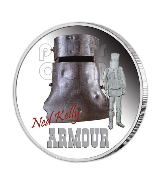 NED KELLY Bandit Outlaw Collection 4 Moneda Plata Set 1$ Tuvalu 2010