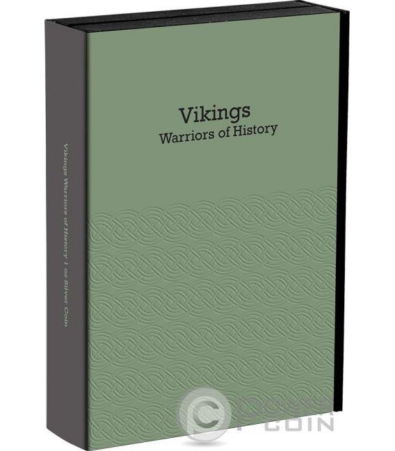 VIKINGS Warriors of History 1 Oz Silver Coin 2$ Niue 2016