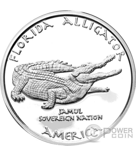 FLORIDA ALLIGATOR Seminole Native State 1 Oz Moneda Plata 1$ Dollar Jamul 2016