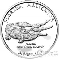 FLORIDA ALLIGATOR Seminole Native State 1 Oz Moneda Plata 1$ Dollar Jamul 2016