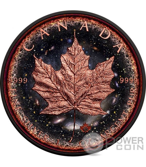 LOGARITHMIC UNIVERSE Maple Leaf Space Collection 1 Oz Silver Coin 5$ Canada 2016