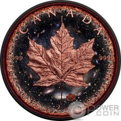 LOGARITHMIC UNIVERSE Universo Maple Leaf Space Collection 1 Oz Moneta Argento 5$ Canada 2016