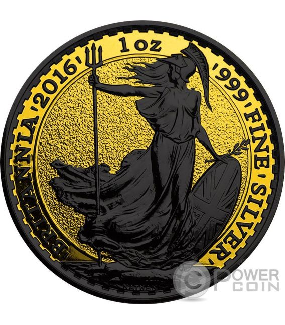 BRITANNIA Gold Shadows 1 Oz Silber Münze 2£ United Kingdom 2016