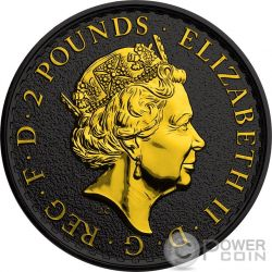 BRITANNIA Gold Shadows 1 Oz Moneta Argento 2£ Regno Unito 2016