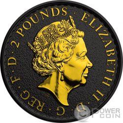 BRITANNIA Gold Shadows 1 Oz Silver Coin 2£ United Kingdom 2016