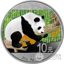 CHINESE PANDA MONKEY Lunar Silber Münze 10 Yuan China 2016