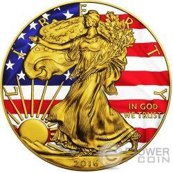 AMERICAN PATRIOTIC Plata Eagle Walking Liberty 1 Oz Moneda Plata 1$ US Mint 2016