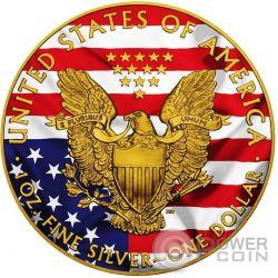 AMERICAN PATRIOTIC Plata Eagle Walking Liberty 1 Oz Moneda Plata 1$ USA 2016