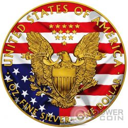 AMERICAN PATRIOTIC Silber Eagle Walking Liberty 1 Oz Silber Münze 1$ USA 2016