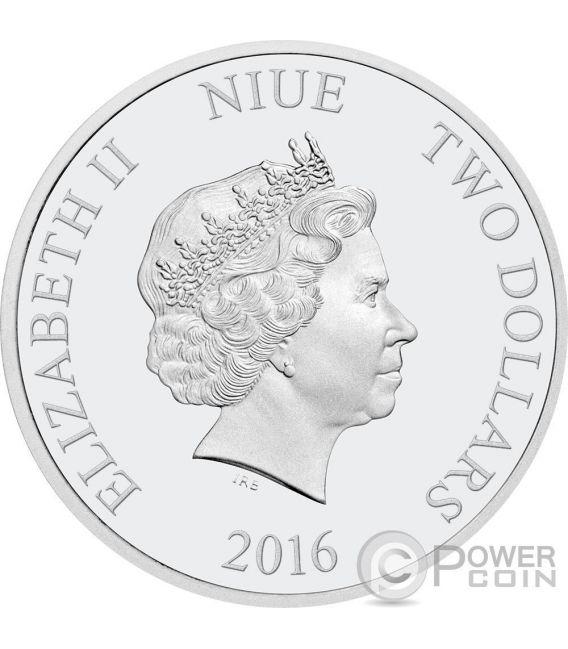 R2-D2 Star Wars Classic 1 Oz Silver Coin 2$ Niue 2016