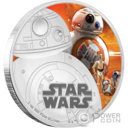 BB-8 Star Wars The Force Awakens 1 oz Silber Proof Münze 2$ Niue 2016