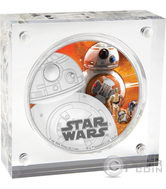 BB-8 Star Wars The Force Awakens 1 oz Silver Proof Coin 2$ Niue 2016