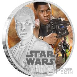 FINN Star Wars The Force Awakens 1 oz Silver Proof Coin 2$ Niue 2016
