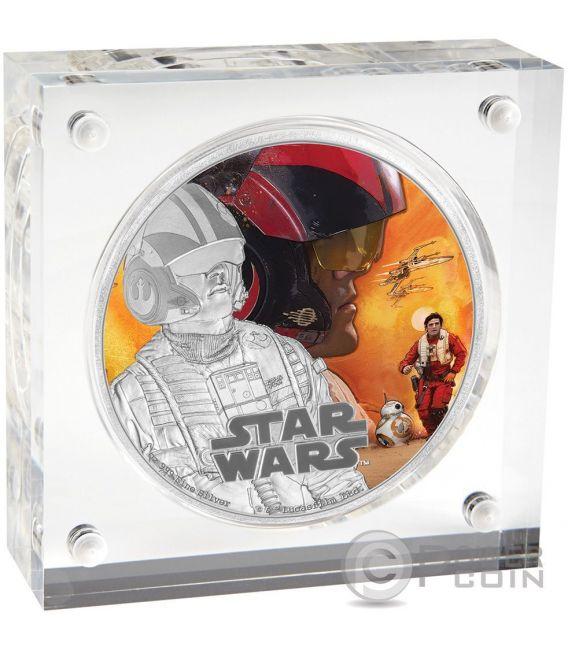 POE DAMERON Star Wars The Force Awakens 1 oz Silber Proof Münze 2$ Niue 2016