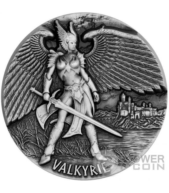 VALKYRIE Valchiria Legends of Asgard 3 Oz Moneta Argento 10$ Tokelau 2016