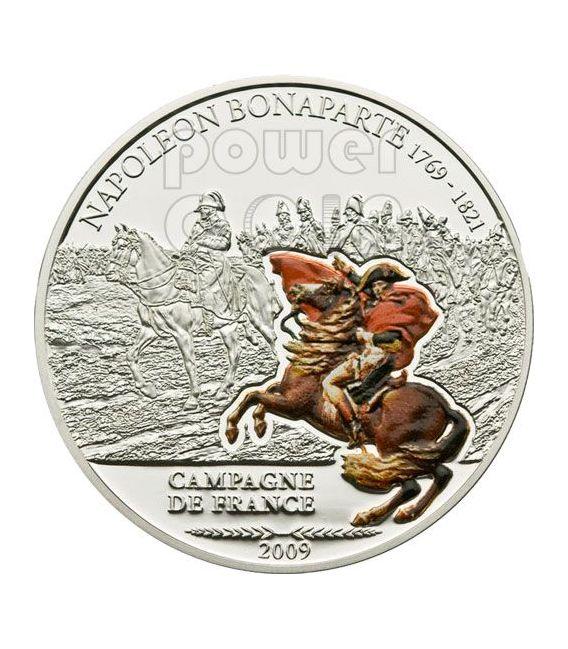 NAPOLEON Great Battles Commanders Silver Coin 5$ Cook Islands 2009