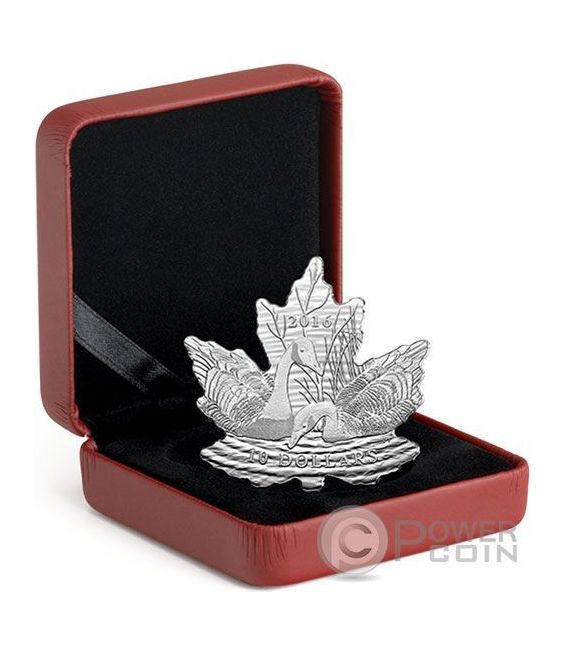 MAPLE LEAF SILHOUETTE Geese Cut Out Moneda Plata 10$ Canada 2016